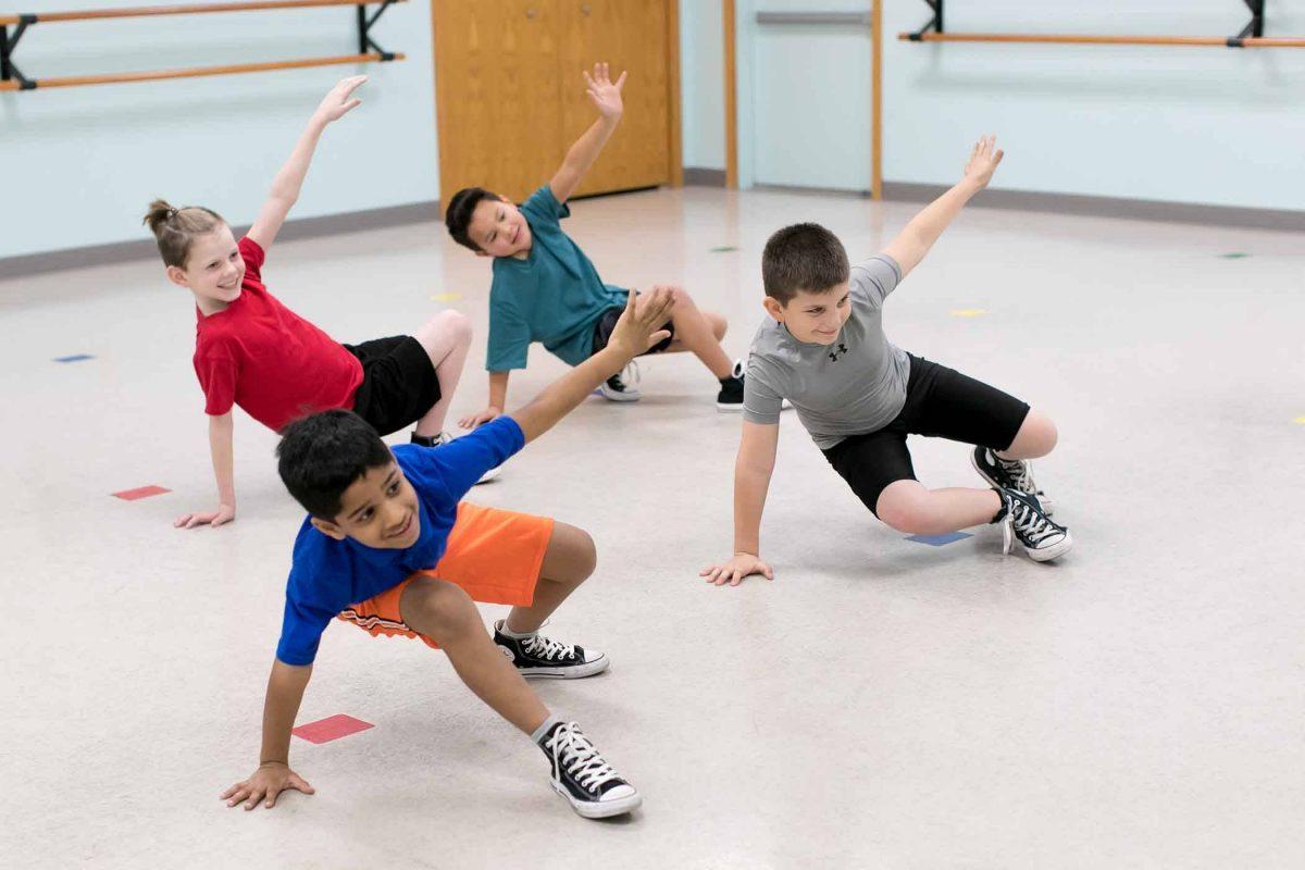 elementary age boys dancing hip hop